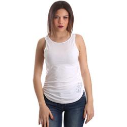 Îmbracaminte Femei Maiouri și Tricouri fără mânecă Ea7 Emporio Armani 3GTH54 TJ28Z Alb