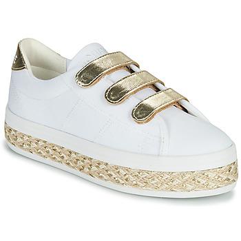 Pantofi Femei Pantofi sport Casual No Name MALIBU STRAPS Alb / Auriu