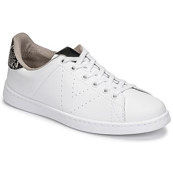Pantofi Femei Pantofi sport Casual Victoria TENIS VEGANA SERPIENTE Alb / Negru