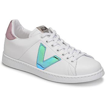 Pantofi Femei Pantofi sport Casual Victoria TENIS VEGANA VINI Alb / Albastru / Roz