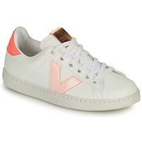 Pantofi Fete Pantofi sport Casual Victoria TENIS VEGANA CONTRASTE Alb / Roz