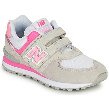 Pantofi Fete Pantofi sport Casual New Balance 574 Gri / Roz
