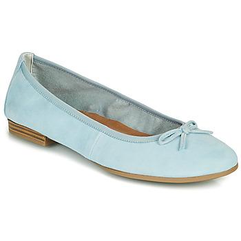 Pantofi Femei Balerin și Balerini cu curea Tamaris ALENA Albastru