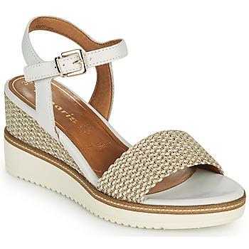 Pantofi Femei Sandale  Tamaris ALIS Alb / Bej