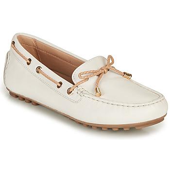Pantofi Femei Mocasini Geox D LEELYAN C Alb / Bej