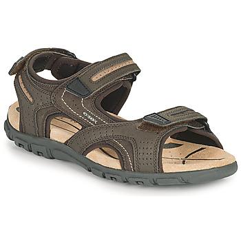 Pantofi Bărbați Sandale sport Geox UOMO SANDAL STRADA D Maro / Bej