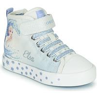 Pantofi Fete Pantofi sport stil gheata Geox JR CIAK GIRL Alb / Albastru