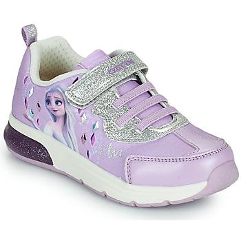 Pantofi Fete Pantofi sport Casual Geox SPACECLUB GIRL Violet