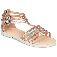 Pantofi Fete Sandale  Geox SANDAL KARLY GIRL Roz / Argintiu