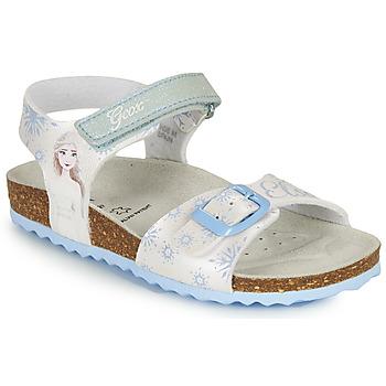 Pantofi Fete Sandale  Geox ADRIEL GIRL Alb / Albastru