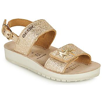 Pantofi Fete Sandale  Geox SANDAL COSTAREI GI Auriu