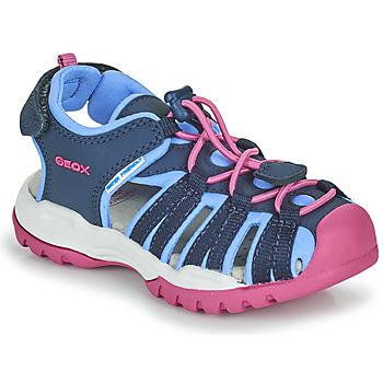 Pantofi Fete Sandale sport Geox BOREALIS GIRL Albastru / Roz