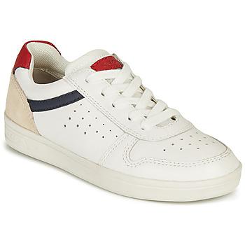Pantofi Băieți Pantofi sport Casual Geox J DJROCK BOY A Alb / Albastru / Roșu