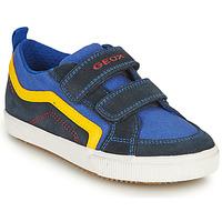 Pantofi Băieți Pantofi sport Casual Geox ALONISSO BOY Albastru / Galben