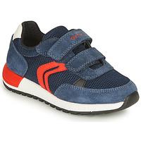 Pantofi Băieți Pantofi sport Casual Geox ALBEN BOY Albastru / Roșu