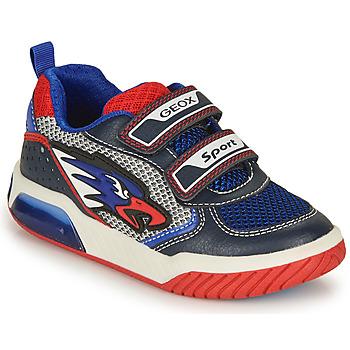 Pantofi Băieți Pantofi sport Casual Geox INEK BOY Albastru / Roșu