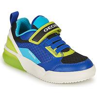 Pantofi Băieți Pantofi sport Casual Geox GRAYJAY BOY Albastru / Lime