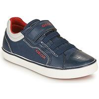Pantofi Băieți Pantofi sport Casual Geox GISLI BOY Albastru / Roșu