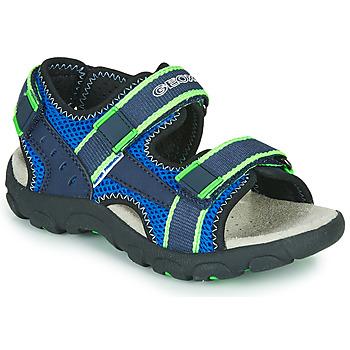 Pantofi Băieți Sandale sport Geox JR SANDAL STRADA Albastru / Verde