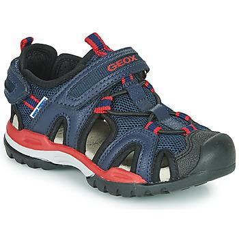 Pantofi Băieți Sandale sport Geox BOREALIS BOY Albastru / Roșu