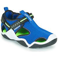 Pantofi Băieți Sandale sport Geox JR WADER Albastru / Verde