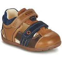 Pantofi Băieți Sandale  Geox KAYTAN Maro / Albastru
