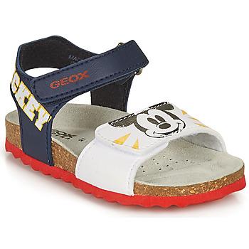 Pantofi Băieți Sandale  Geox SANDAL CHALKI BOY Albastru / Alb