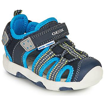Pantofi Băieți Sandale sport Geox SANDAL MULTY BOY Albastru