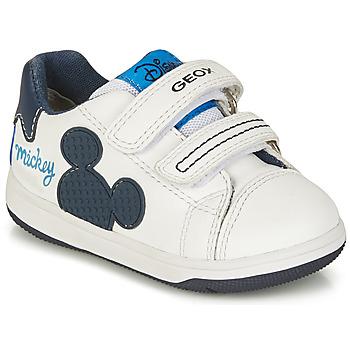 Pantofi Băieți Pantofi sport Casual Geox NEW FLICK BOY Alb / Albastru