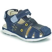 Pantofi Băieți Sandale  Geox SANDAL DELHI BOY Albastru