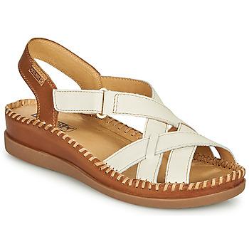 Pantofi Femei Sandale  Pikolinos CADAQUES W8K Alb / Maro