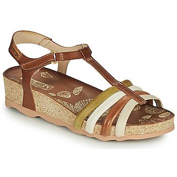 Pantofi Femei Sandale  Pikolinos MAHON W9E Maro / Alb