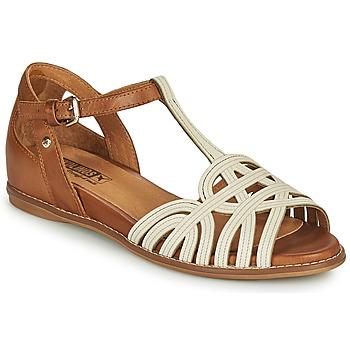 Pantofi Femei Sandale  Pikolinos TALAVERA W3D Alb / Maro