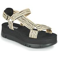Pantofi Femei Sandale  Camper ORUGA UP Negru / Bej