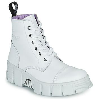Pantofi Ghete New Rock M-WALL005-C1 Alb