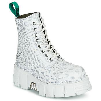 Pantofi Ghete New Rock M-MILI083C-V9 Alb
