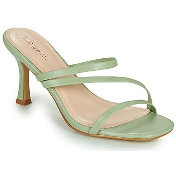 Pantofi Femei Papuci de vară Moony Mood OBIUTI Verde / MigdalĂ