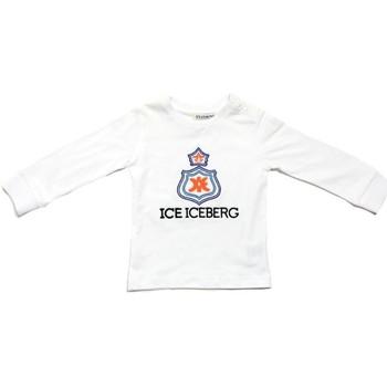 Îmbracaminte Băieți Tricouri cu mânecă lungă  Iceberg TSICE0316B Bianco