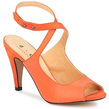 Pantofi Femei Sandale și Sandale cu talpă  joasă D.Co Copenhagen MARISSA Portocaliu