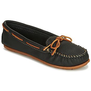 Pantofi Femei Mocasini Minnetonka BOAT MOC Negru
