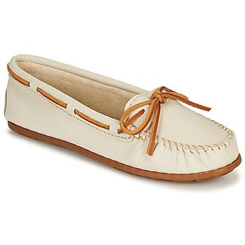 Pantofi Femei Mocasini Minnetonka BOAT MOC Alb