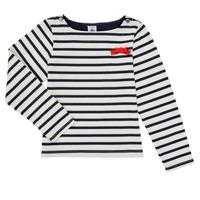 Îmbracaminte Fete Tricouri cu mânecă lungă  Petit Bateau MAHALIA Multicolor