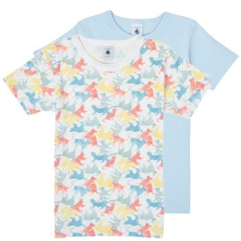Îmbracaminte Băieți Tricouri mânecă scurtă Petit Bateau MANUR Multicolor