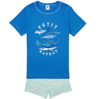 Îmbracaminte Băieți Pijamale și Cămăsi de noapte Petit Bateau MAYONNAISE Multicolor