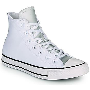Pantofi Femei Pantofi sport stil gheata Converse CHUCK TAYLOR ALL STAR ANODIZED METALS HI Alb