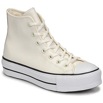 Pantofi Femei Pantofi sport stil gheata Converse CHUCK TAYLOR ALL STAR LIFT ANODIZED METALS HI Alb / Bej