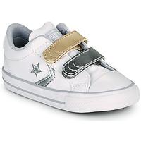 Pantofi Fete Pantofi sport Casual Converse STAR PLAYER 2V METALLIC LEATHER OX Alb