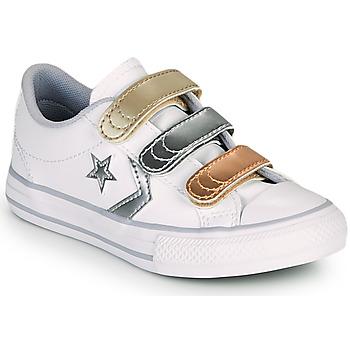 Pantofi Fete Pantofi sport Casual Converse STAR PLAYER 3V METALLIC LEATHER OX Alb