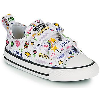Pantofi Fete Pantofi sport Casual Converse CHUCK TAYLOR ALL STAR 2V GIRLS GAMER OX Alb /  multicolor