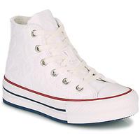 Pantofi Fete Pantofi sport stil gheata Converse CHUCK TAYLOR ALL STAR LIFT LOVE CEREMONY HI Alb